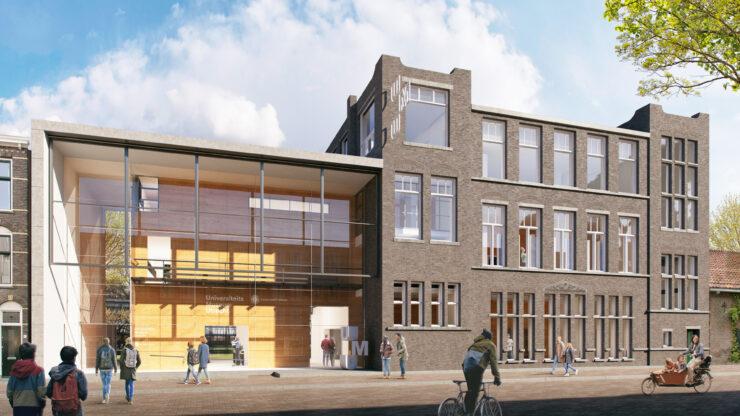 Gevel nieuwe gebouw
